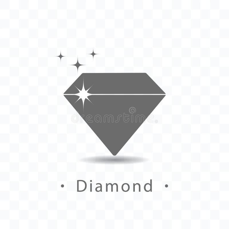 Διανυσματική απεικόνιση εικονιδίων διαμαντιών στο διαφανές υπόβαθρο διανυσματική απεικόνιση
