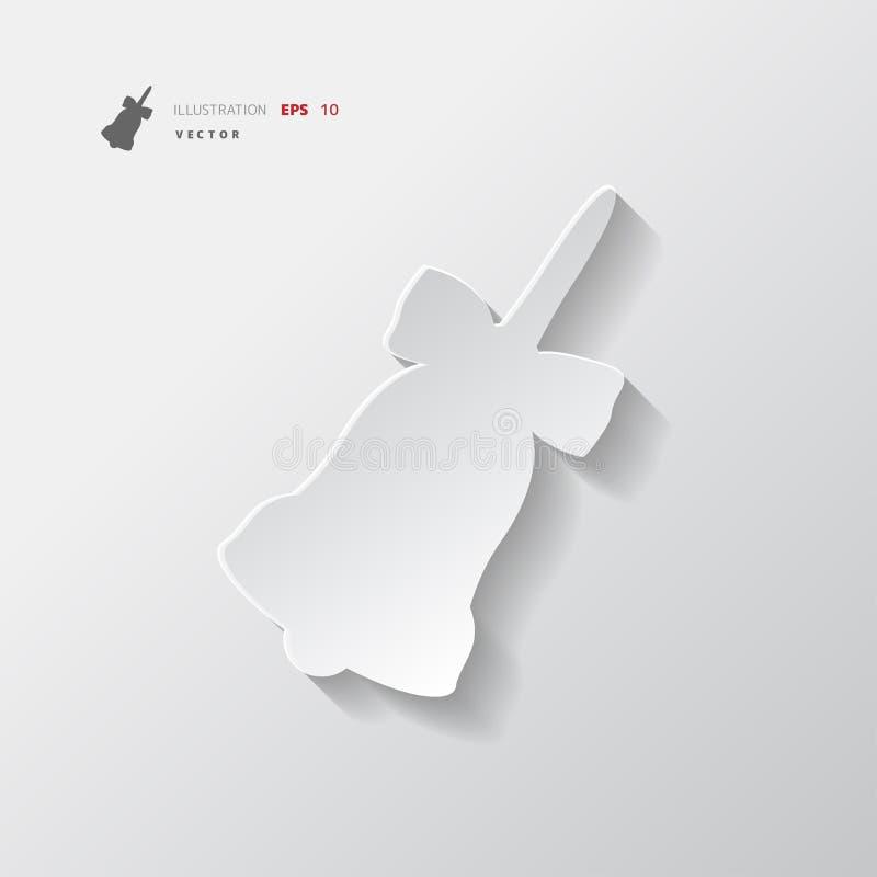 Διανυσματική απεικόνιση εικονιδίων κουδουνιών Χριστουγέννων ελεύθερη απεικόνιση δικαιώματος