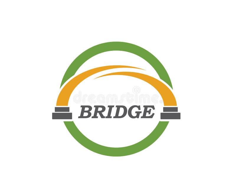 διανυσματική απεικόνιση εικονιδίων λογότυπων γεφυρών ελεύθερη απεικόνιση δικαιώματος