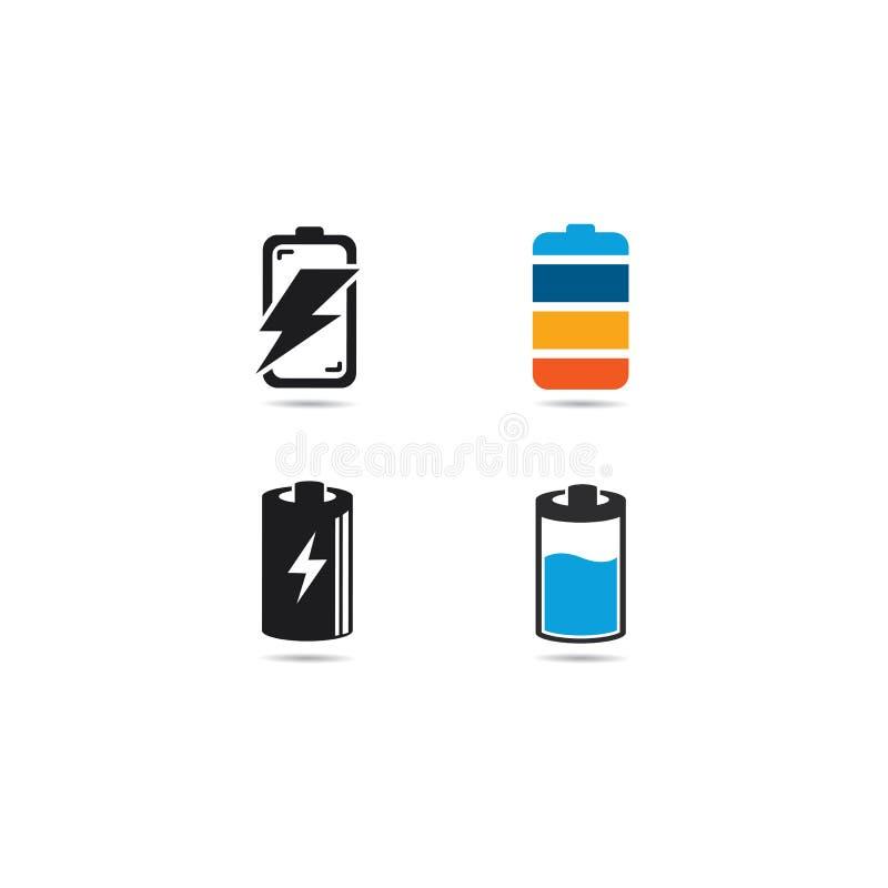 Διανυσματική απεικόνιση εικονιδίων λογότυπων μπαταριών απεικόνιση αποθεμάτων
