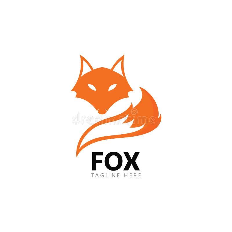 Διανυσματική απεικόνιση εικονιδίων προτύπων λογότυπων αλεπούδων διανυσματική απεικόνιση