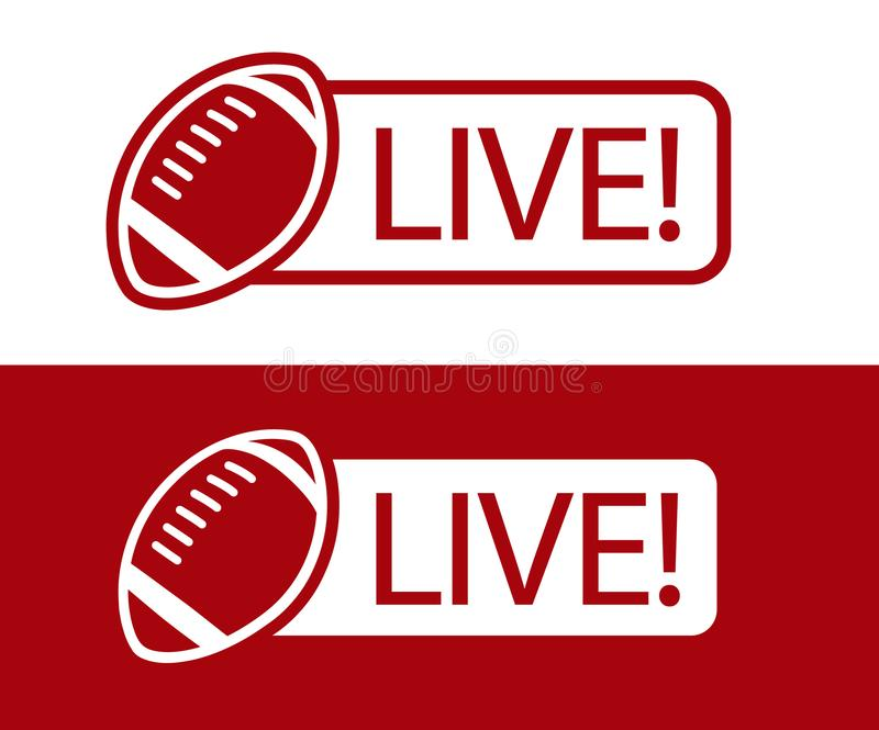 Διανυσματική απεικόνιση εικονιδίων ραδιοφωνικής μετάδοσης αμερικανικού ποδοσφαίρου ΖΩΝΤΑΝΗ ελεύθερη απεικόνιση δικαιώματος