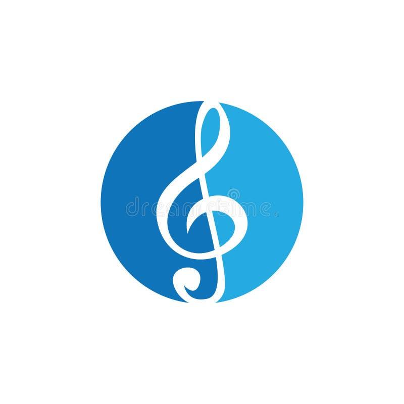 Διανυσματική απεικόνιση εικονιδίων σημειώσεων μουσικής ελεύθερη απεικόνιση δικαιώματος