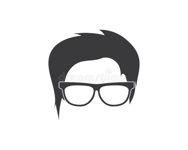 διανυσματική απεικόνιση εικονιδίων στοιχείων ατόμων hairstyle απεικόνιση αποθεμάτων
