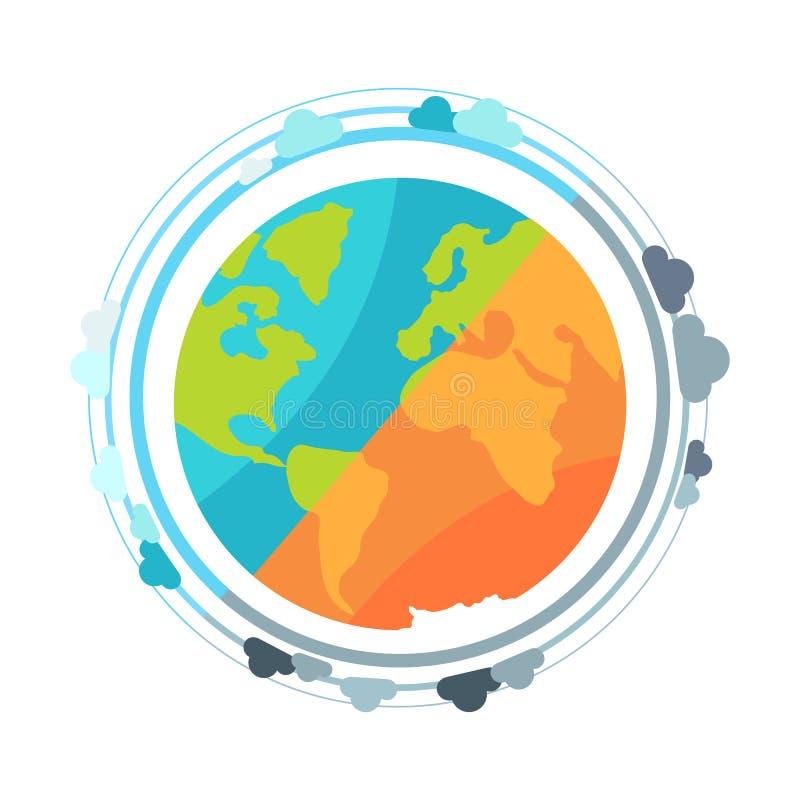 Διανυσματική απεικόνιση εικονιδίων σφαιρών γήινων πλανητών απεικόνιση αποθεμάτων