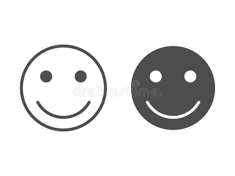 Διανυσματική απεικόνιση εικονιδίων χαμόγελου Ευτυχές σύμβολο προσώπου για το σχέδιο ιστοχώρου σας, λογότυπο, app, UI απεικόνιση απεικόνιση αποθεμάτων