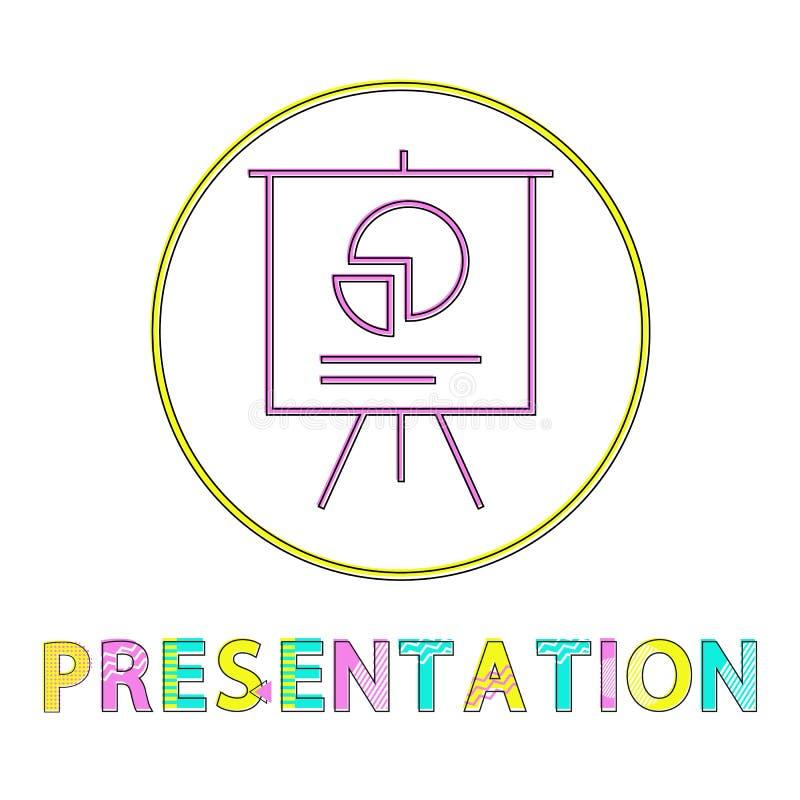 Διανυσματική απεικόνιση εικονιδίων Whiteboard παρουσίασης ελεύθερη απεικόνιση δικαιώματος