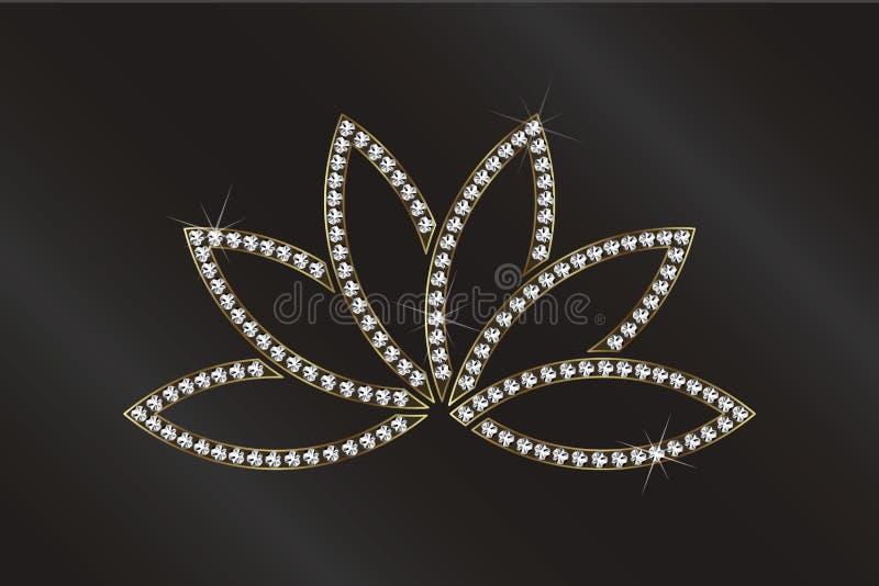 Διανυσματική απεικόνιση εικόνας εγκαταστάσεων Lotus πολυτέλειας ελεύθερη απεικόνιση δικαιώματος