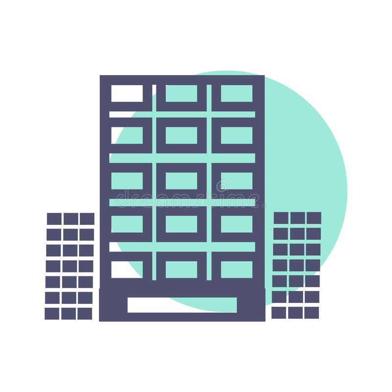 Διανυσματική απεικόνιση εικόνων ουρανοξυστών για το σχέδιο αρχιτεκτονικής Σύγχρονο γραφείο πόλεων απεικόνιση αποθεμάτων