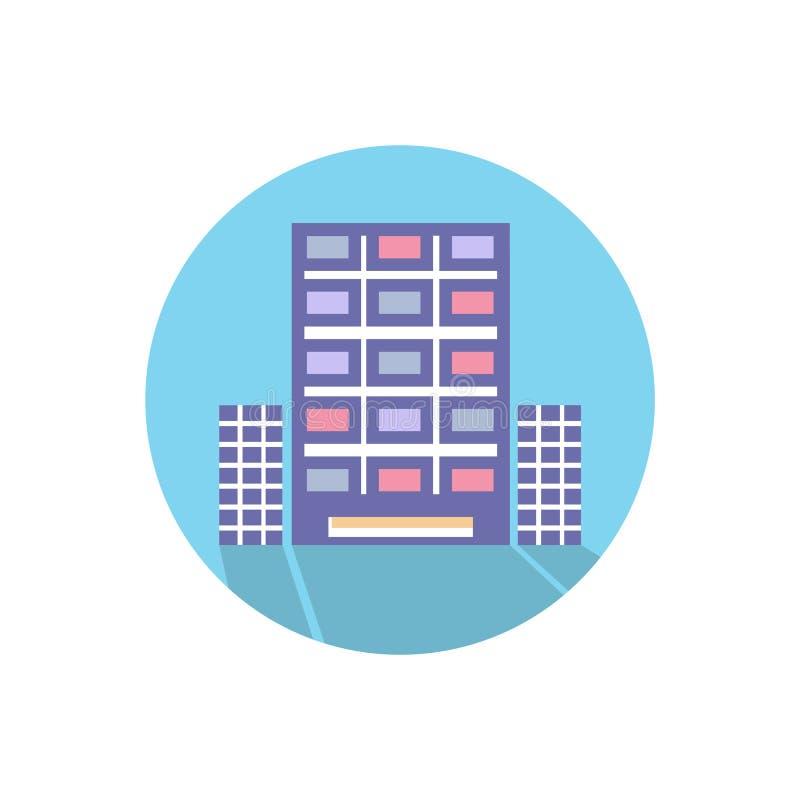 Διανυσματική απεικόνιση εικόνων ουρανοξυστών για το σχέδιο αρχιτεκτονικής Σύγχρονο γραφείο πόλεων διανυσματική απεικόνιση