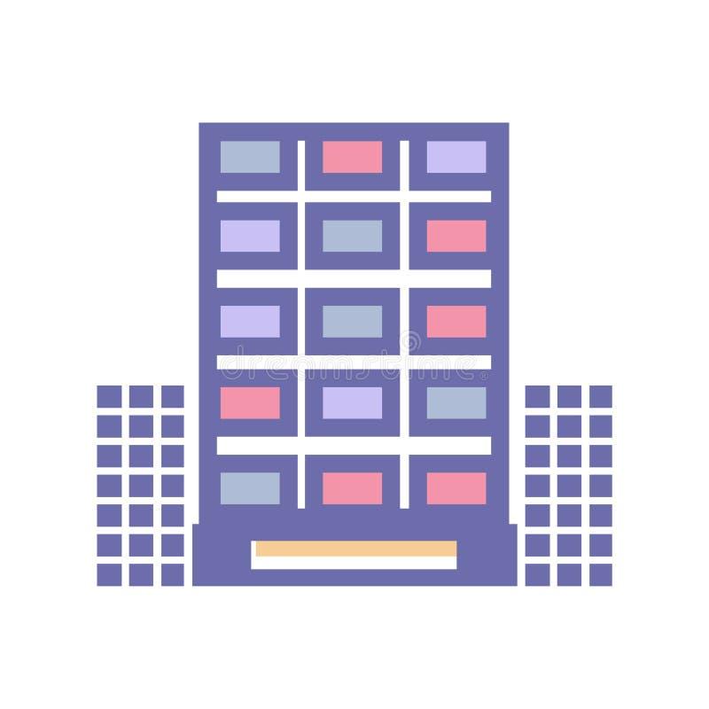 Διανυσματική απεικόνιση εικόνων ουρανοξυστών για το σχέδιο αρχιτεκτονικής Σύγχρονο γραφείο πόλεων ελεύθερη απεικόνιση δικαιώματος