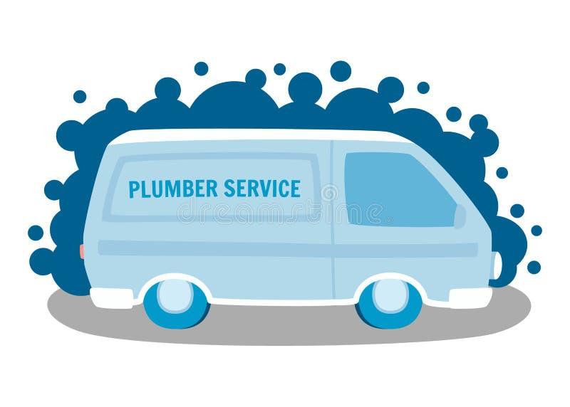 Διανυσματική απεικόνιση εμβλημάτων αυτοκινήτων υπηρεσιών υδραυλικών απεικόνιση αποθεμάτων