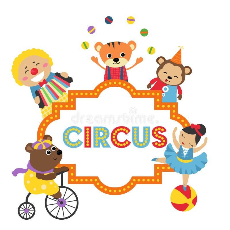 Διανυσματική απεικόνιση εμβλημάτων τσίρκων καρναβαλιού ελεύθερη απεικόνιση δικαιώματος