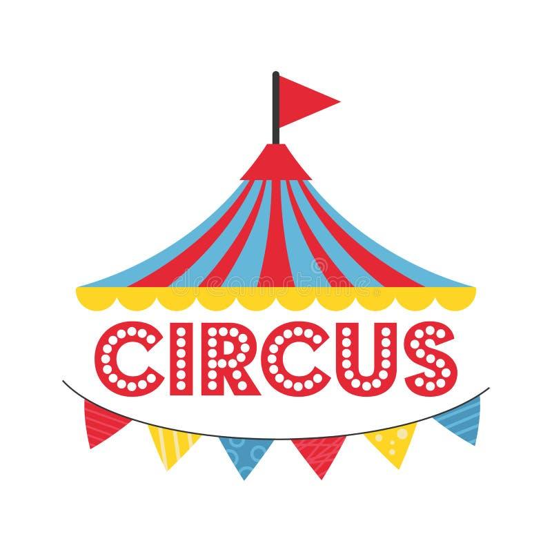 Διανυσματική απεικόνιση εμβλημάτων τσίρκων καρναβαλιού διανυσματική απεικόνιση