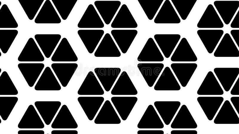 Διανυσματική απεικόνιση ενός άνευ ραφής σχεδίου των τριγώνων διανυσματική απεικόνιση
