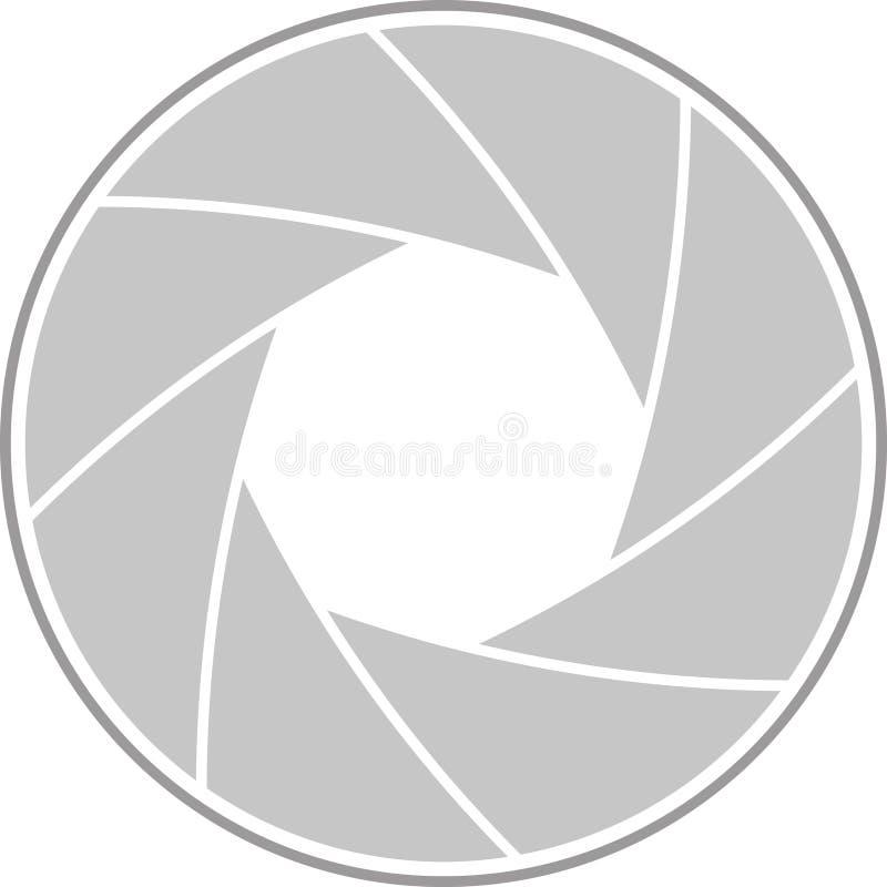 Διανυσματική απεικόνιση ενός ανοίγματος φακών απεικόνιση αποθεμάτων