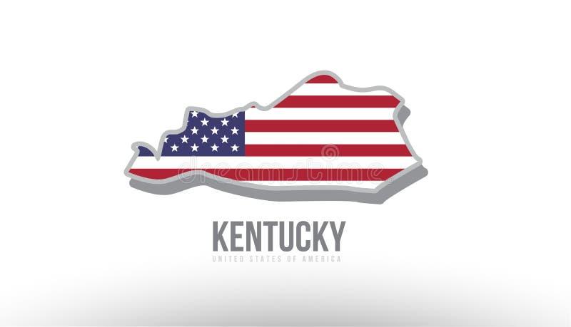 Διανυσματική απεικόνιση ενός κράτους νομών με αμερικανική Ηνωμένες Πολιτείες σημαία απεικόνιση αποθεμάτων