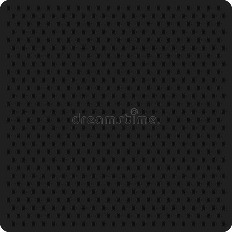 Διανυσματική απεικόνιση ενός μαύρου διατρυπημένου μετάλλου ελεύθερη απεικόνιση δικαιώματος