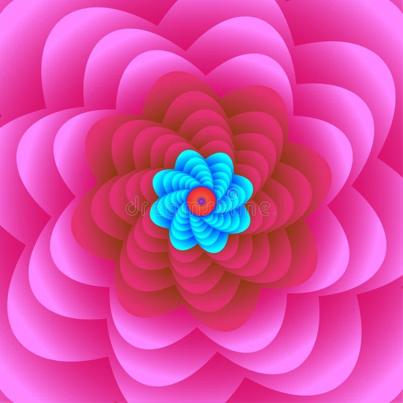 Διανυσματική απεικόνιση ενός όμορφου ρόδινου floral σχεδίου σχεδίου στοκ φωτογραφίες