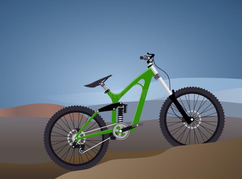 Διανυσματική απεικόνιση επίπεδη για το ακραίο αθλητικό ποδήλατο διανυσματική απεικόνιση