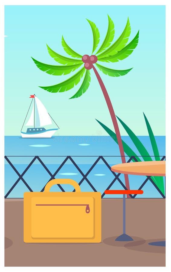 Διανυσματική απεικόνιση επιχειρησιακών διακινούμενη αποσκευών ελεύθερη απεικόνιση δικαιώματος