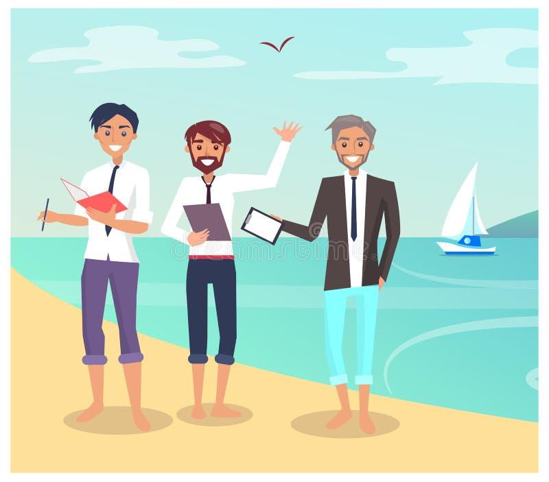 Διανυσματική απεικόνιση επιχειρησιακών διακινούμενων ανθρώπων διανυσματική απεικόνιση