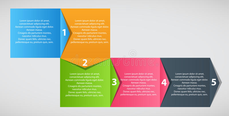 Διανυσματική απεικόνιση επιχειρησιακών προτύπων Infographic ελεύθερη απεικόνιση δικαιώματος