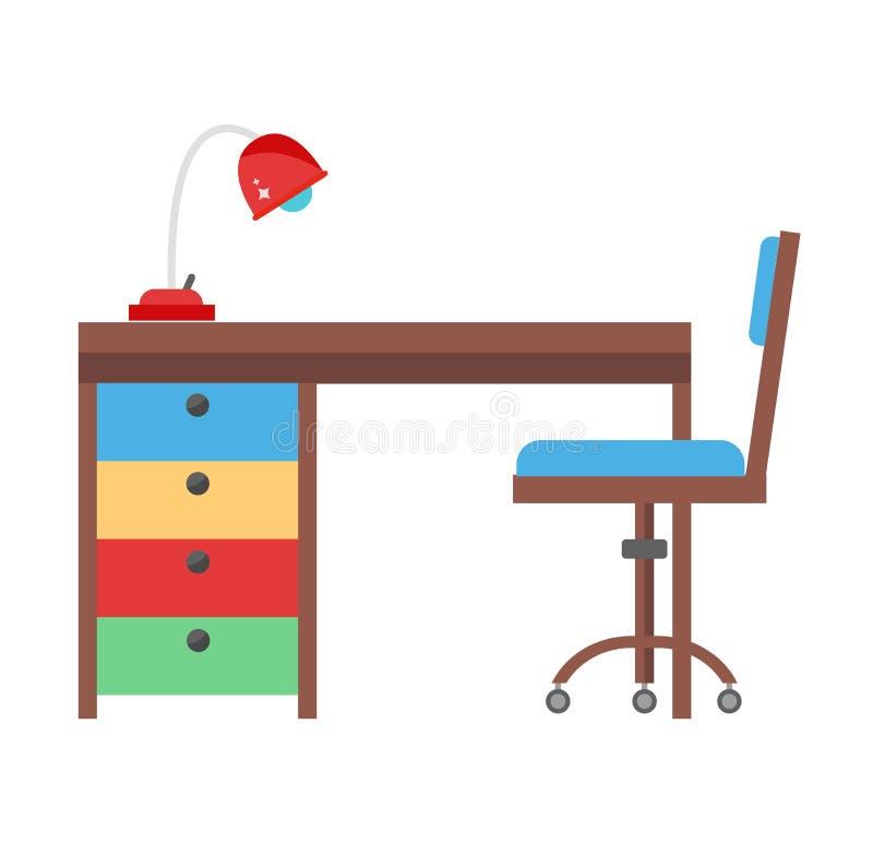 Διανυσματική απεικόνιση εργασιακών χώρων παιδιών ελεύθερη απεικόνιση δικαιώματος