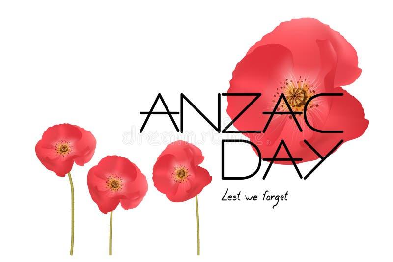 Διανυσματική απεικόνιση ημέρας Anzac διανυσματική απεικόνιση