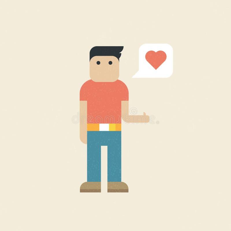 Διανυσματική απεικόνιση: Καθιερώνων τη μόδα επίπεδος χαρακτήρας ελεύθερη απεικόνιση δικαιώματος