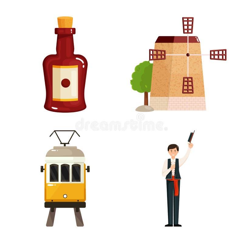 Διανυσματική απεικόνιση και σημάδι Συλλογή και σύμβολο αποθεμάτων ταξιδιού για τον Ιστό διανυσματική απεικόνιση