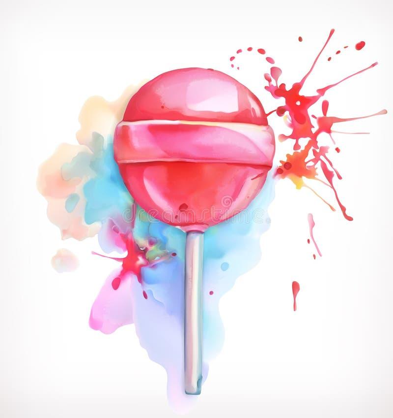 Διανυσματική απεικόνιση καραμελών Lollipop απεικόνιση αποθεμάτων