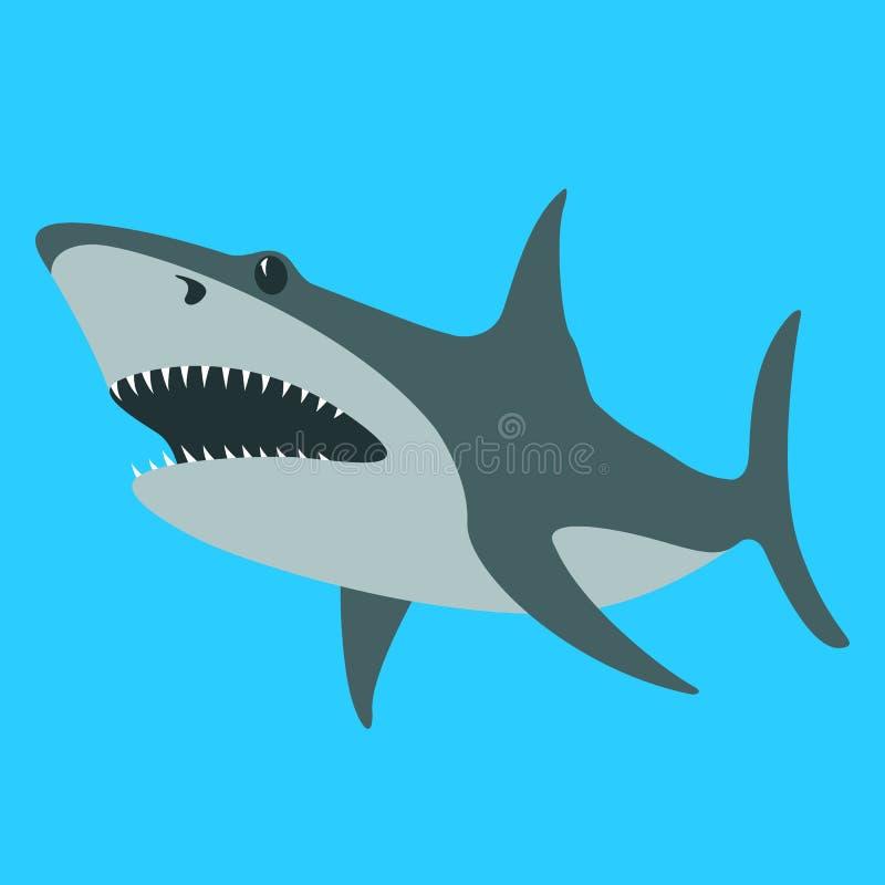 Διανυσματική απεικόνιση καρχαριών, επίπεδο ύφος, σχεδιάγραμμα απεικόνιση αποθεμάτων