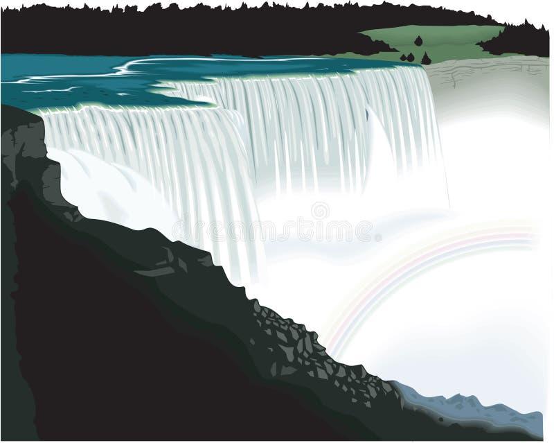 Διανυσματική απεικόνιση καταρρακτών του Νιαγάρα ελεύθερη απεικόνιση δικαιώματος
