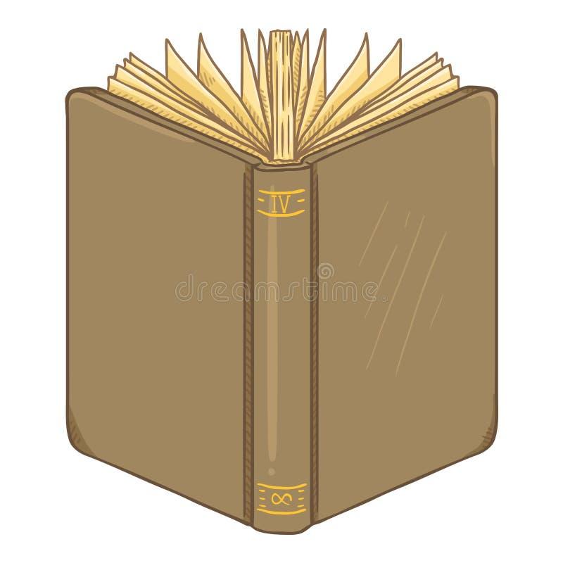 Διανυσματική απεικόνιση κινούμενων σχεδίων - καφετί βιβλίο Hardcover διανυσματική απεικόνιση