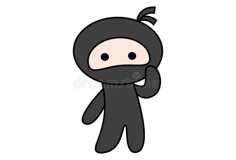 Διανυσματική απεικόνιση κινούμενων σχεδίων Ninja ελεύθερη απεικόνιση δικαιώματος