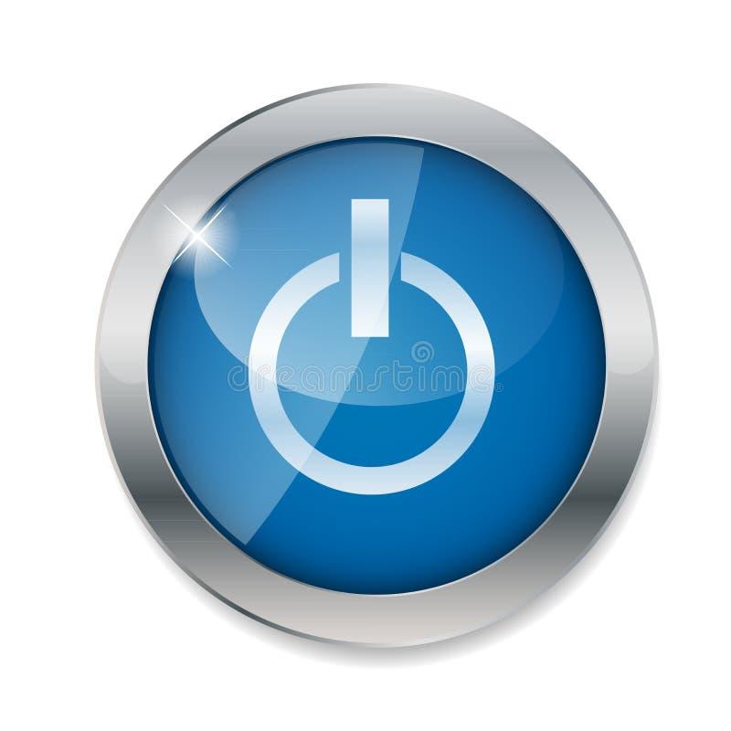 Διανυσματική απεικόνιση κουμπιών δύναμης απεικόνιση αποθεμάτων