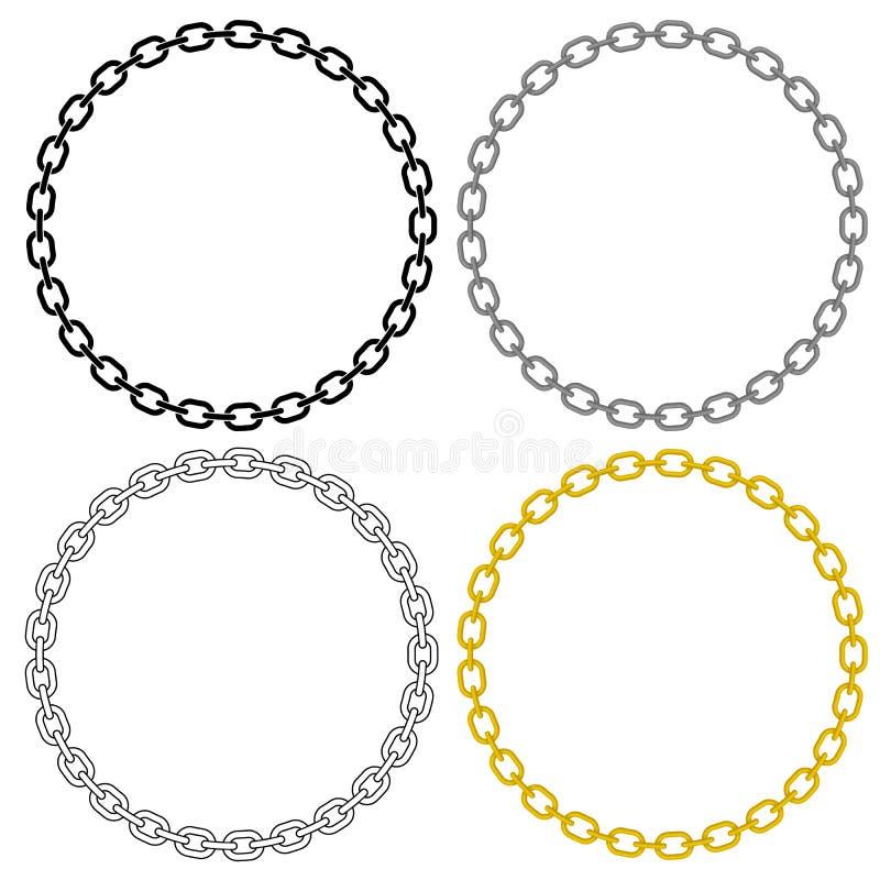 Διανυσματική απεικόνιση κύκλων συνδέσεων αλυσίδων μετάλλων ελεύθερη απεικόνιση δικαιώματος