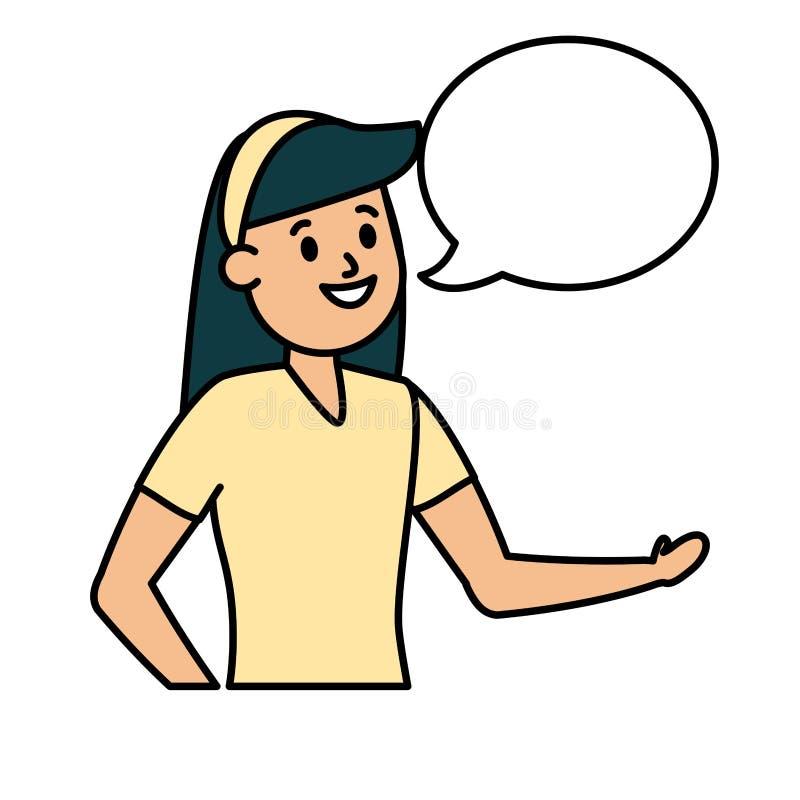 Χαρακτήρας νέων κοριτσιών διανυσματική απεικόνιση