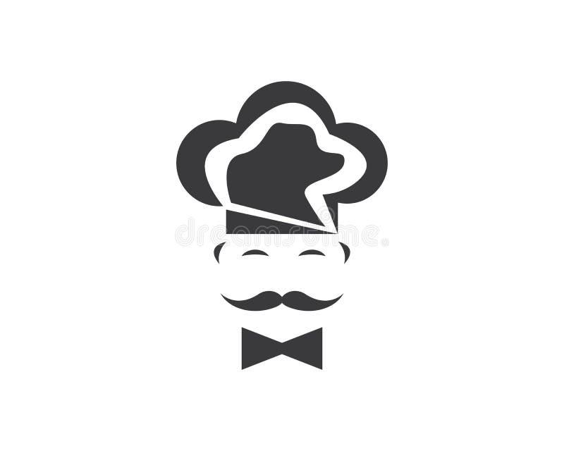Διανυσματική απεικόνιση λογότυπων εικονιδίων αρχιμαγείρων εστιατορίων διανυσματική απεικόνιση