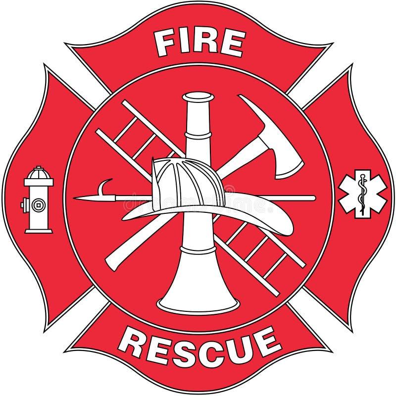Διανυσματική απεικόνιση λογότυπων πυρκαγιάς και διάσωσης διανυσματική απεικόνιση