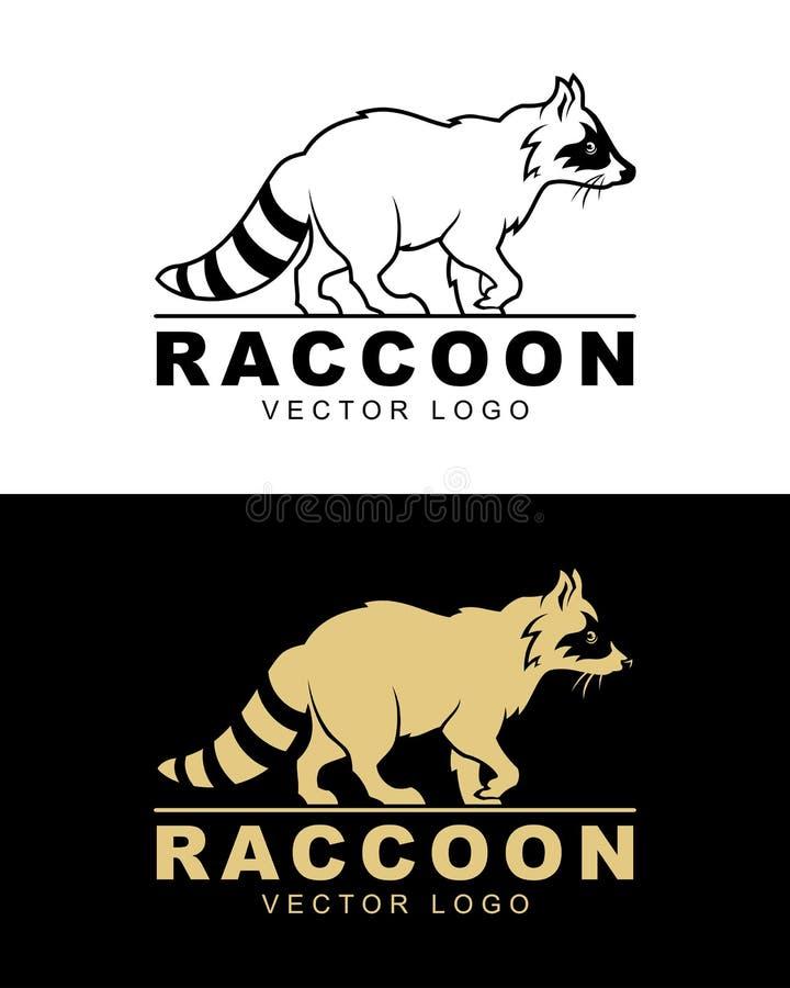 Διανυσματική απεικόνιση λογότυπων ρακούν διανυσματική απεικόνιση