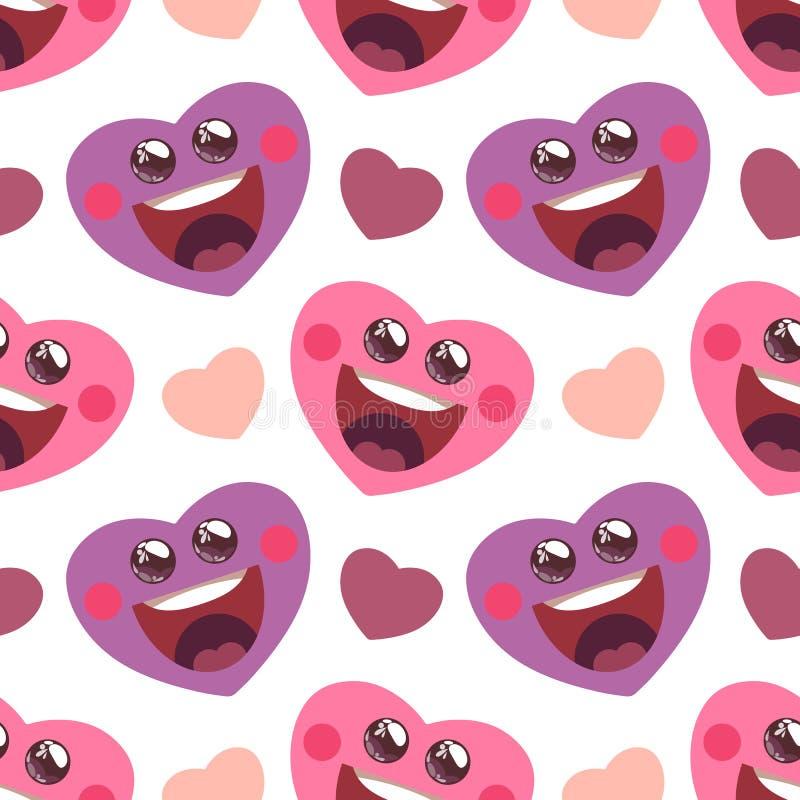 Διανυσματική απεικόνιση με την αστεία καρδιά κινούμενων σχεδίων διανυσματική απεικόνιση
