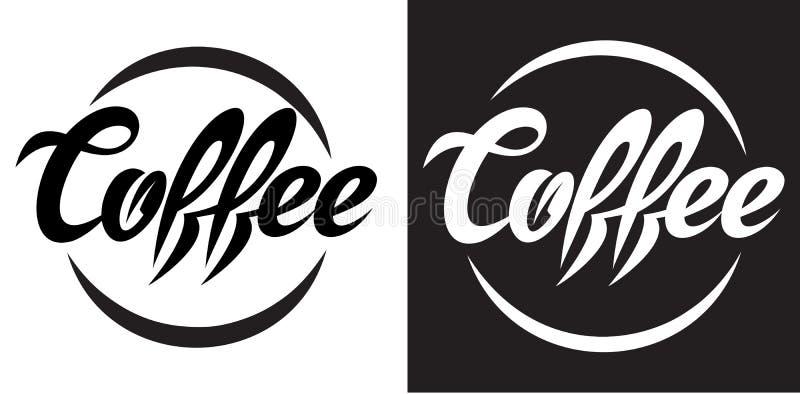 Διανυσματική απεικόνιση με την καλλιγραφική εγγραφή του καφέ διανυσματική απεικόνιση