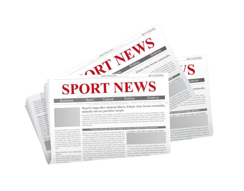 Διανυσματική απεικόνιση μιας εφημερίδας με τις ειδήσεις επιγραφών στο επίπεδο ύφος στο άσπρο υπόβαθρο με τη σκιά κατωτέρω ελεύθερη απεικόνιση δικαιώματος