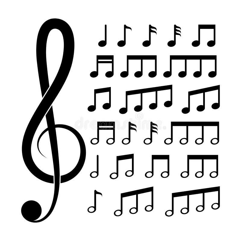 διανυσματική απεικόνιση μουσικής σημειώσεων διανυσματική απεικόνιση