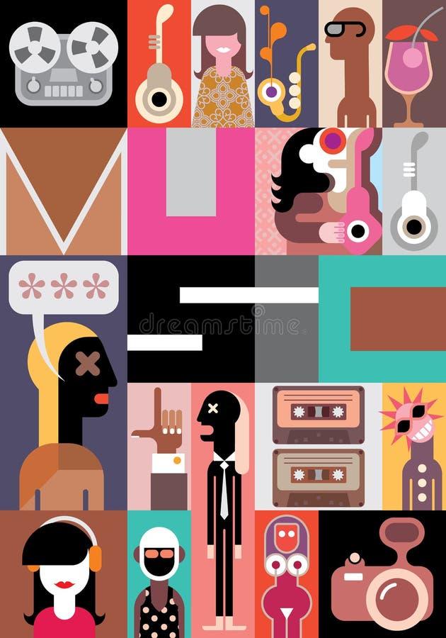 Διανυσματική απεικόνιση μουσικής διανυσματική απεικόνιση