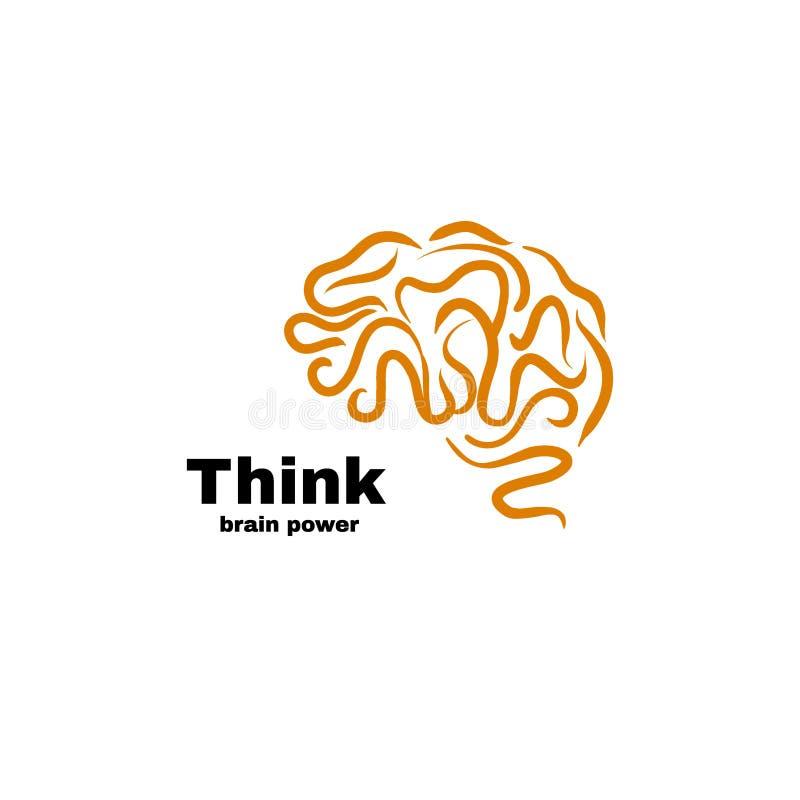 Διανυσματική απεικόνιση λογότυπων δύναμης εγκεφάλου διανυσματική απεικόνιση