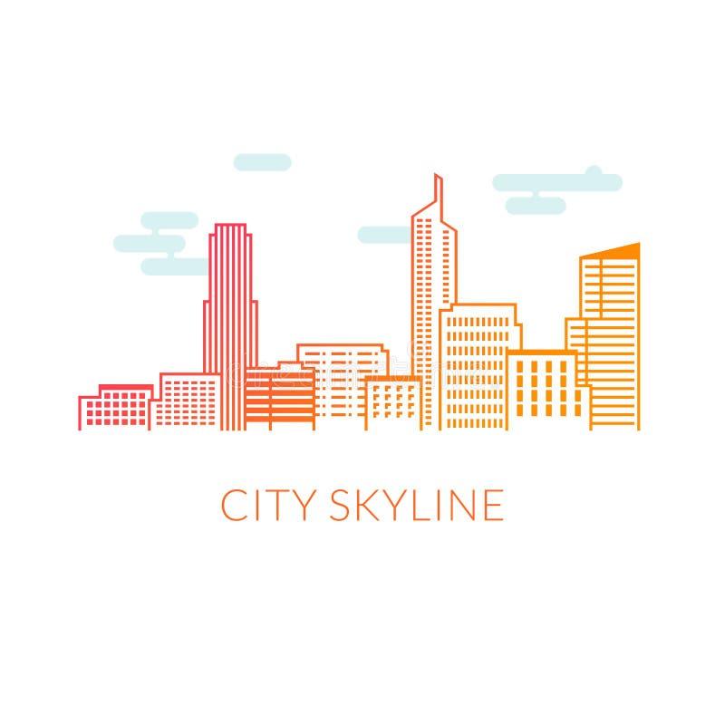 Διανυσματική απεικόνιση οριζόντων πόλεων στοκ εικόνες με δικαίωμα ελεύθερης χρήσης