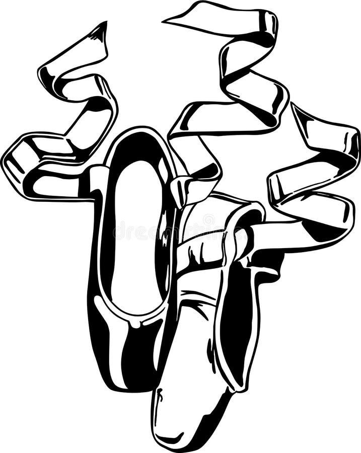 Διανυσματική απεικόνιση παντοφλών μπαλέτου απεικόνιση αποθεμάτων